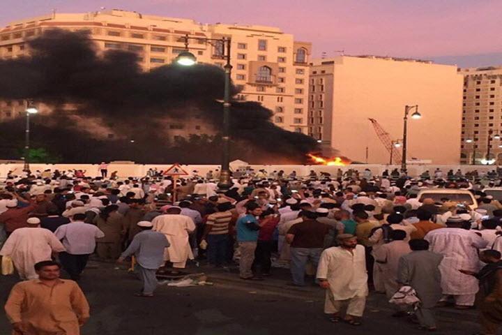 تفجير المدينة المنورة الآن ، صور انفجار قرب الحرم النبوي اليوم عند نقطة أمنية تابع للمسجد