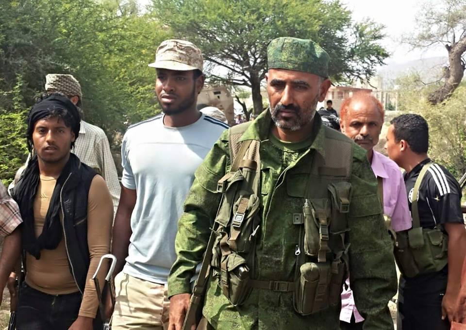 قائد المقاومة في عدن عيدروس قاسم يغادر إلى الرياض