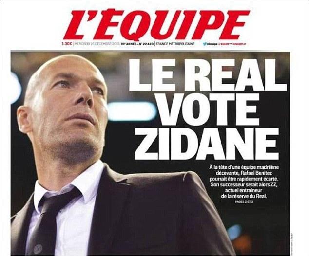 زيدان يستعد ليحل محل بينيتز مع تصاعد الضغوط على مدرب ريال مدريد