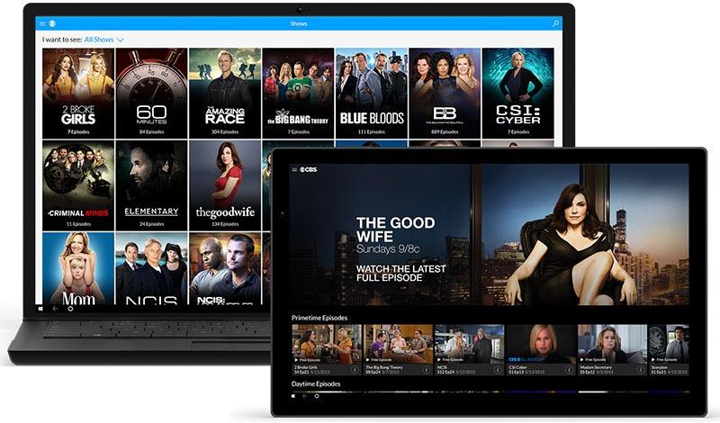 CBS All Access قريباً في ويندوز 10 موبايل