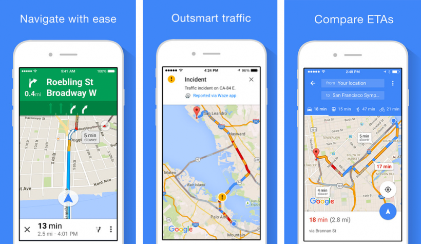 التحديث لـ خرائط جوجل في iOS يسمح بالتنقل في وضع اتصال مغلق