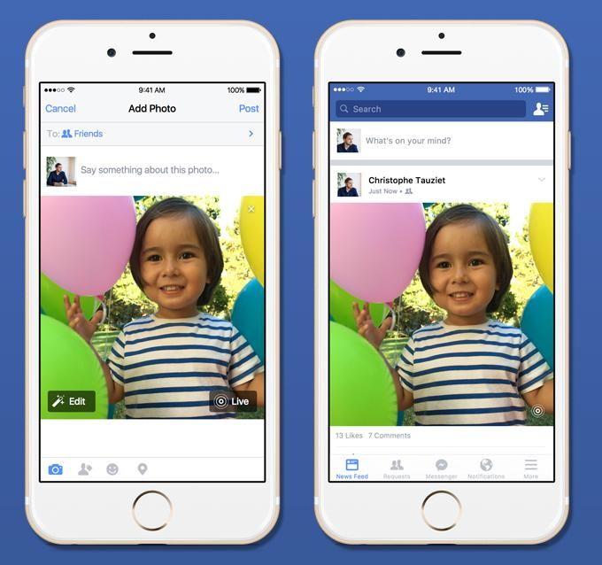 الفيسبوك تضيف ميزة الصورة المباشرة الى منصتها
