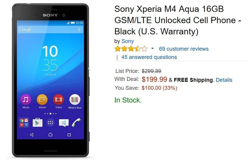 شركة سوني تعلن عن تخفيض سعر هاتف سوني اريكسون ايكسبرا اكوا M4