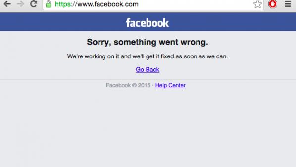فيس بوك يتوقف عن العمل للمره الثالثه خلال أسبوعين