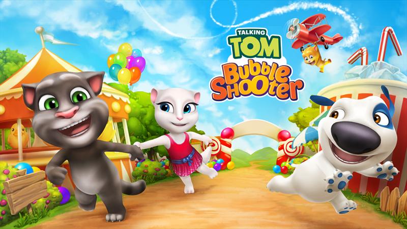 لعبة Talking Tom Bubble Shooter في متجر ويندوز